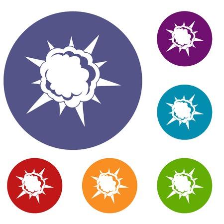 Puissant ensemble d'icônes d'explosion Vecteurs