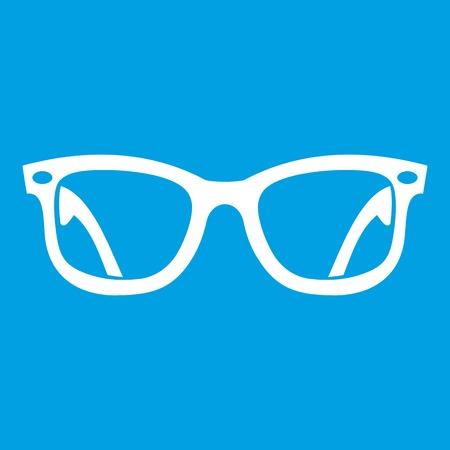 Eyeglasses icon white