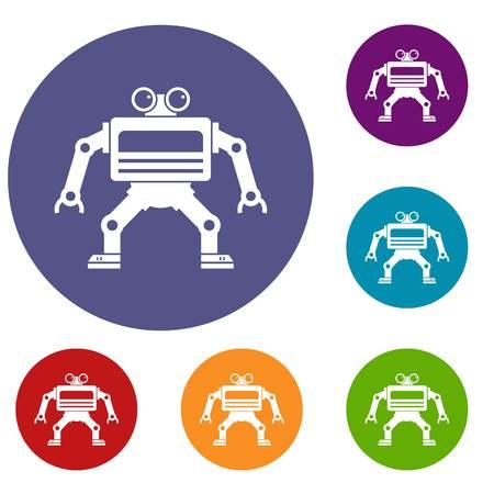 machinery: Machine icons set