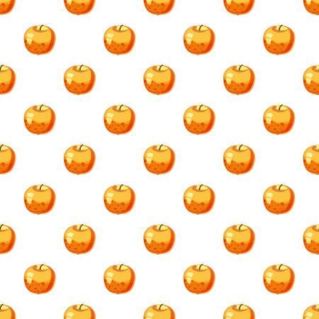 Apple pattern seamless repeat in cartoon style vector illustration Illustration