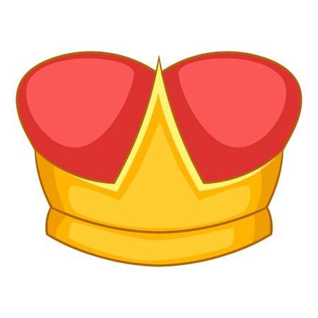Duke crown icon, cartoon style