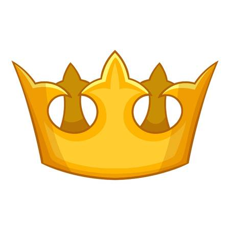 Viscount crown icon, cartoon style