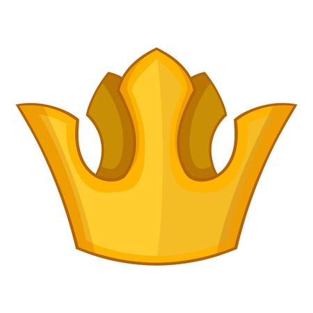 Queen crown icon, cartoon style