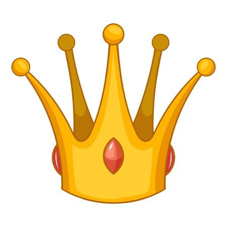 Earl crown icon, cartoon style