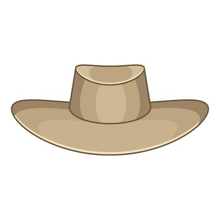 Hat icon. Cartoon illustration of akubra vector icon for web design Illustration