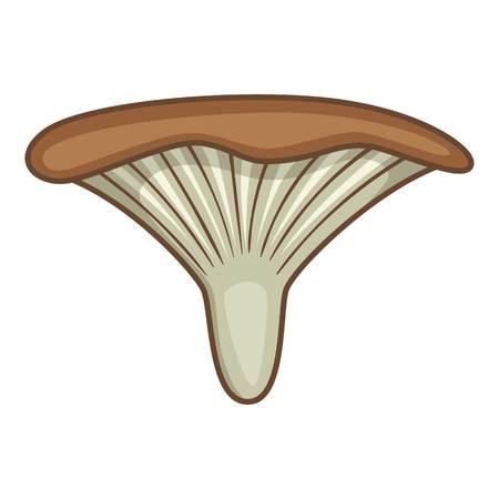 porcine: Clitocybe mushroom icon. Cartoon illustration of clitocybe mushroom vector icon for web design