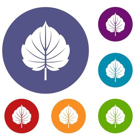 Alder leaf icons set Illustration