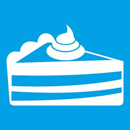 Piece of cake icon white Illustration