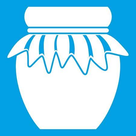 confiture: Jam in glass jar icon white