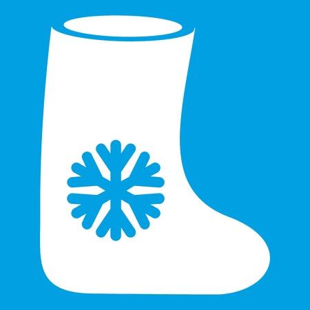 Felt boots icon white