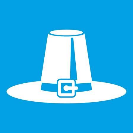 Pilgrim hat icon white