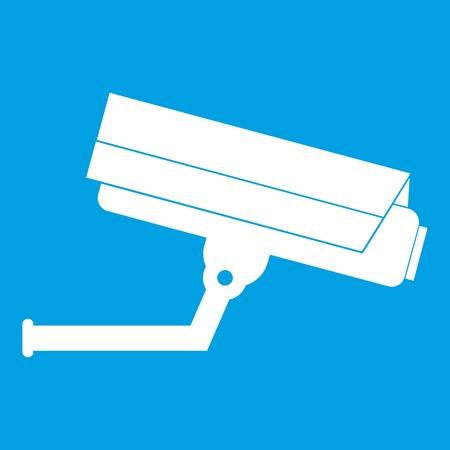 crime prevention: Surveillance camera icon white