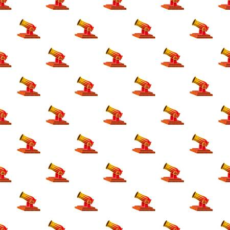 Circus cannon pattern seamless repeat in cartoon style vector illustration