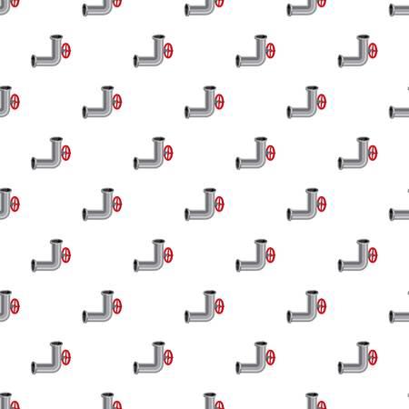 Pièce de pipeline avec motif de soupape sans soudure répéter en illustration vectorielle de style dessin animé Banque d'images - 82662361