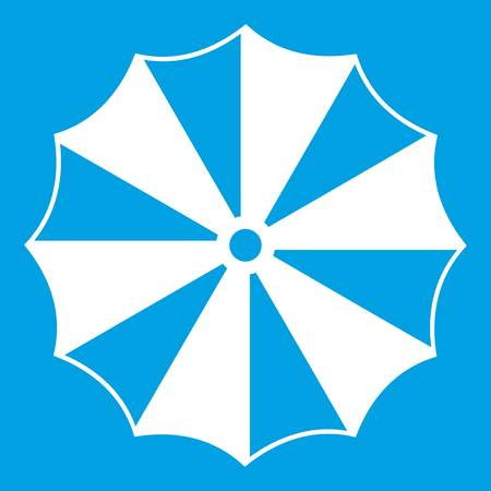 Striped umbrella icon white Иллюстрация