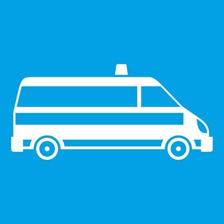 Ambulance car icon white