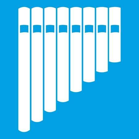 Icono de flauta de pan blanco