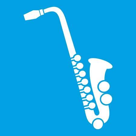 Saxophone icon white