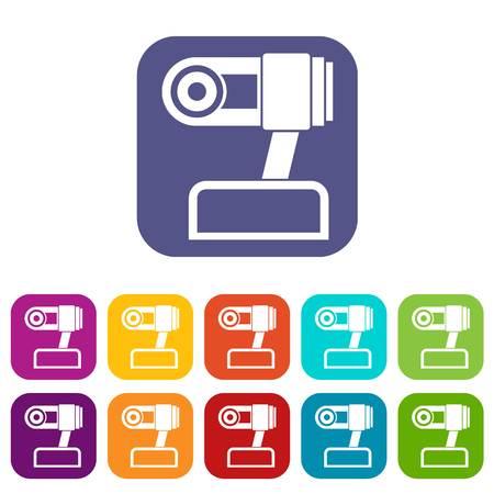 webcam: Webcam icons set Illustration