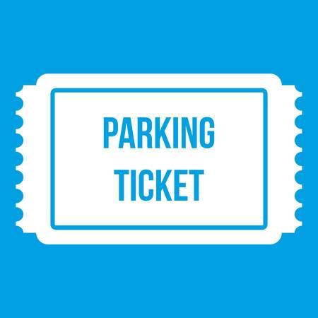 Icona del biglietto di parcheggio bianca