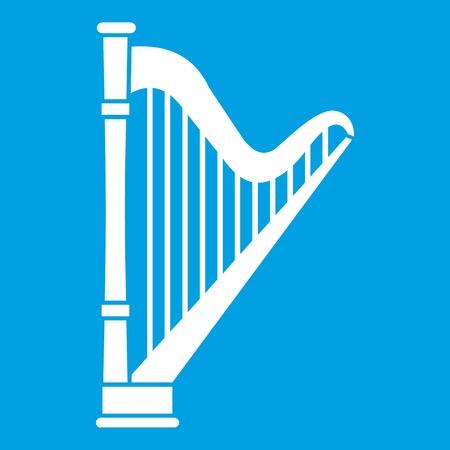 Harp icon white Illustration