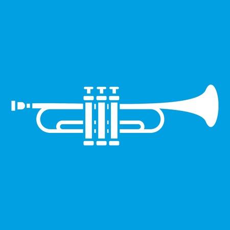 Brass trumpet icon white