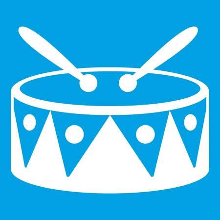 rhythm rhythmic: Drum and drumsticks icon white