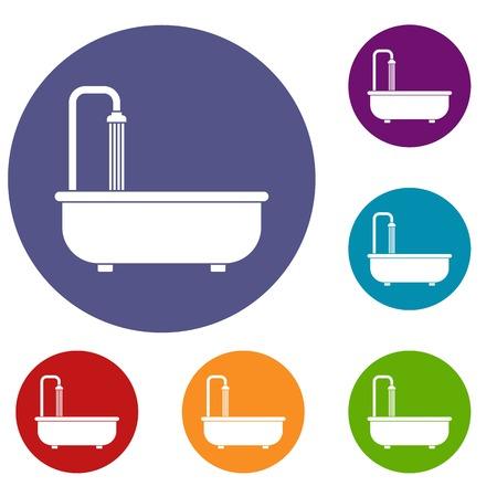 Bathroom icons set