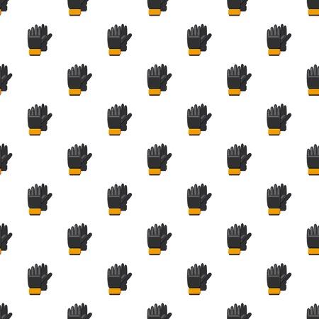 soccer goal: Black soccer gloves pattern seamless repeat in cartoon style vector illustration