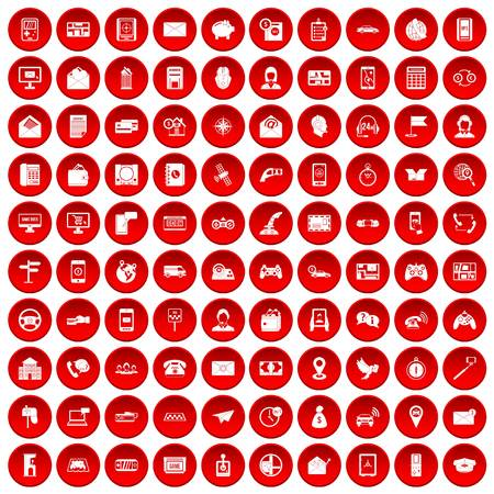 100 전화 아이콘이 빨간색으로 설정