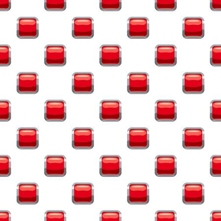glass reflection: Red square button pattern seamless repeat in cartoon style vector illustration Illustration