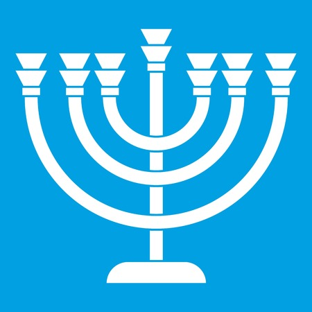Menorah icon white Illustration