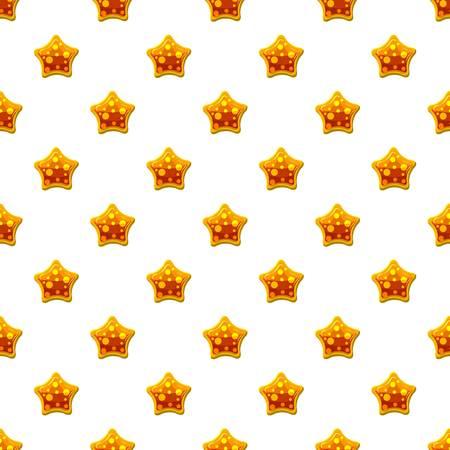 Orange star shaped candy pattern