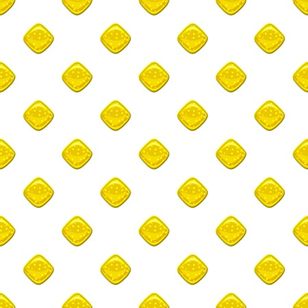 Yellow candie pattern seamless repeat in cartoon style vector illustration