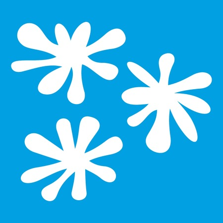 Paintball blob icon white isolated on blue background vector illustration