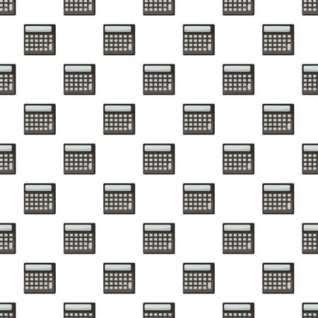 display: Calculator pattern seamless repeat in cartoon style vector illustration Illustration