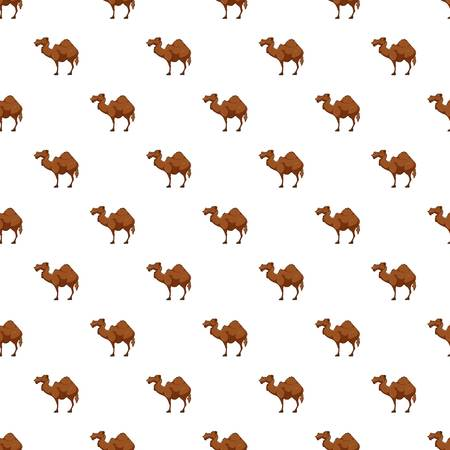 Camel pattern seamless repeat in cartoon style vector illustration