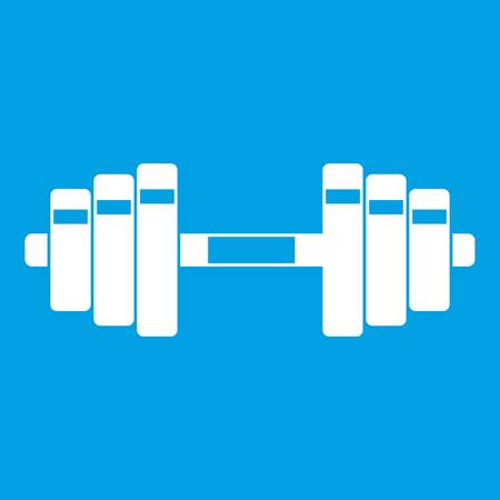 Barbell icon white