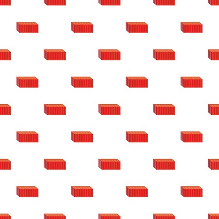 Red cargo container pattern Illustration