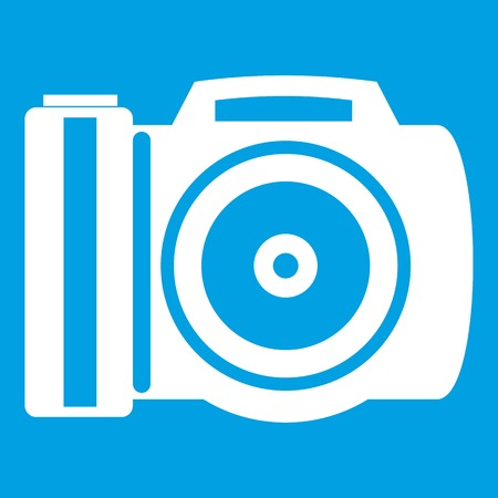 Camera icon white Illustration