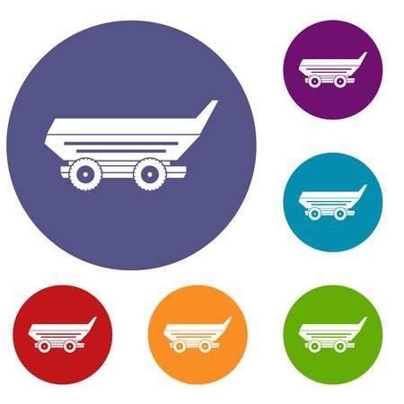 cushy: Car trailer icons set