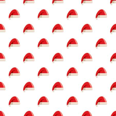 Red hat with pompom of Santa Claus pattern Illustration