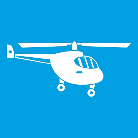 Helicopter icon white