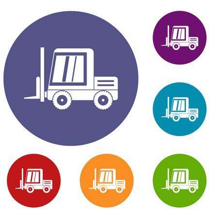 loader: Stacker loader icons set