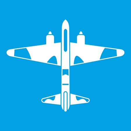 Military fighter aircraft icon white
