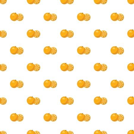Mandarin pattern seamless repeat in cartoon style vector illustration