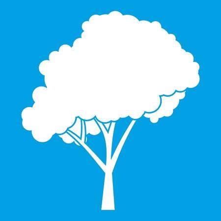 arboles frondosos: Árbol con un icono de corona redondeada blanco