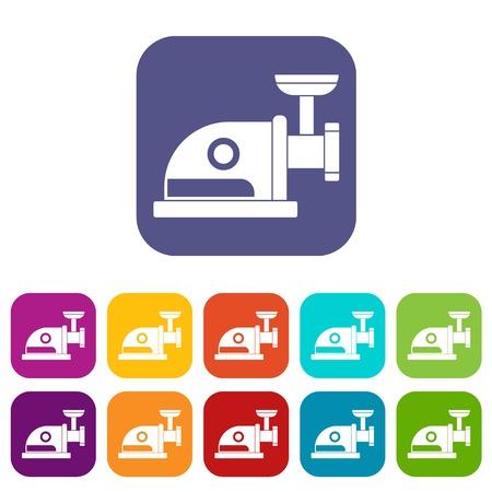 appliances: Electric grinder icons set
