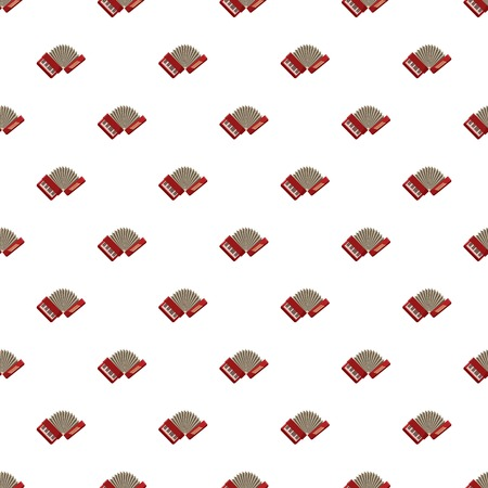 Red accordion pattern seamless repeat in cartoon style vector illustration