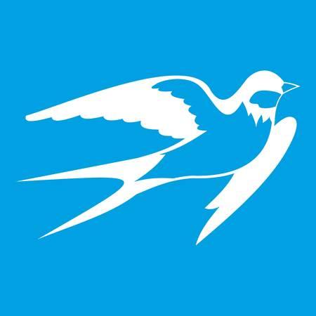 Barn swallow icon white